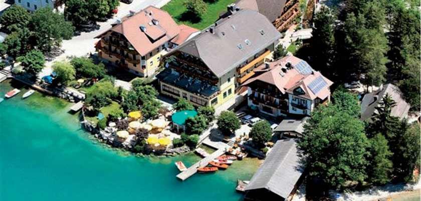 Landhotel Schützenhof, Fuschl, Salzkammergut, Austria - Exterior aerial view.jpg